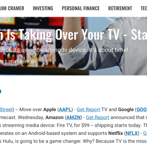 The Street: Amazon Is Taking Over Your TV – Starting Today!