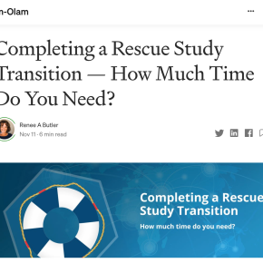 Pharm-Olam: Completing a Rescue Study Transition — How Much Time Do You Need?